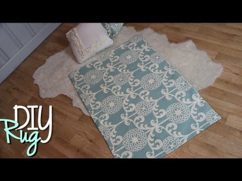 Diy cute rugs easy no sew home decor youtube for Easy rugs