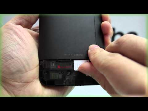 HTC Desire HD: Inserting the SIM Card and Memory Card