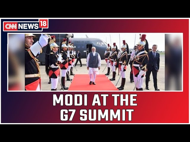 PM Modi Arrives in France for G7 Summit; May Discuss Kashmir