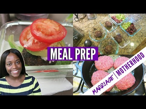 MEAL PREP FOR WORK LUNCHES | Low Carb | Easy Food | Marriage & Motherhood