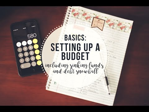 The Basics of Setting up a Budget Mock Budget, Sinking Funds, Baby