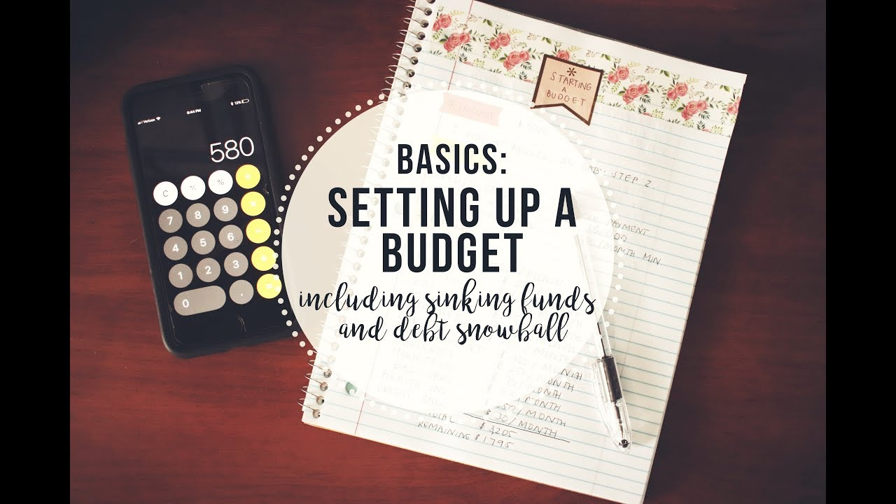 the basics of setting up a budget mock budget sinking funds baby