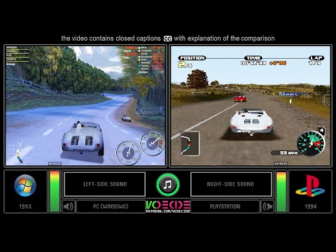 Need For Speed: Porsche Unleashed (PC Vs PlayStation) Side By Side Comparison (PC Vs PS1) VCDECIDE