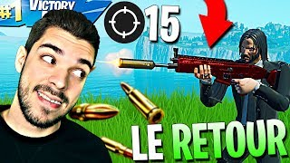 AIMBOT's RETOUR with the SCAR SILENCIEUSE on FORTNITE? - TOP 1 15 KILLS