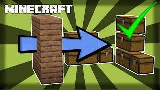 ✔ MINECRAFT | How to Make a Secret Storage Room! 1.14.4