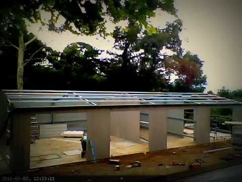Timelapse My 4 Car Garage Being Built In Minutes Youtube