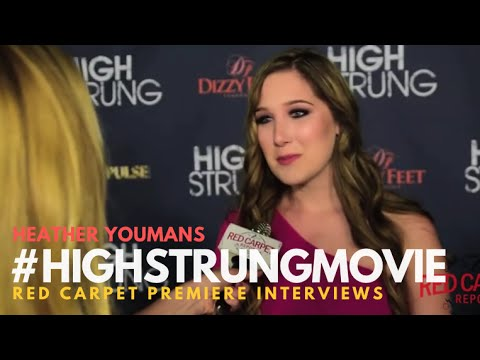"""Heather Youmans at the Red Carpet Premiere for """"High Strung"""" #HighStrungMovie"""