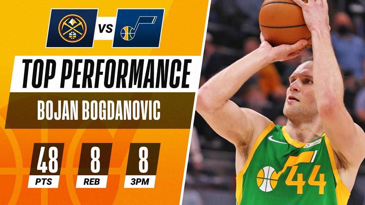 Bojan Bogdanovic DROPS 48 PTS in Jazz Home Victory! 🎶
