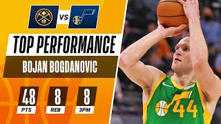 Bojan Bogdanovic DROPS 48 PTS in Jazz Home Victory! 🎶