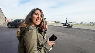I SURPRISED MY FIANCEE WITH A HELICOPTER RIDE FOR HER BIRTHDAY!