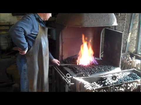 The Blacksmith Iron Work in the Forge | Making a Scroll