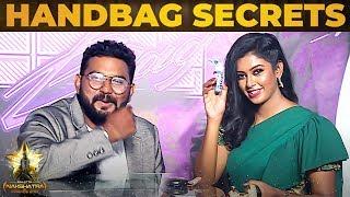 Bharathi Kannamma Roshini Fun Tongue Twister & Handbag Secrets Revealed|Galatta Nakshatra Award 2019