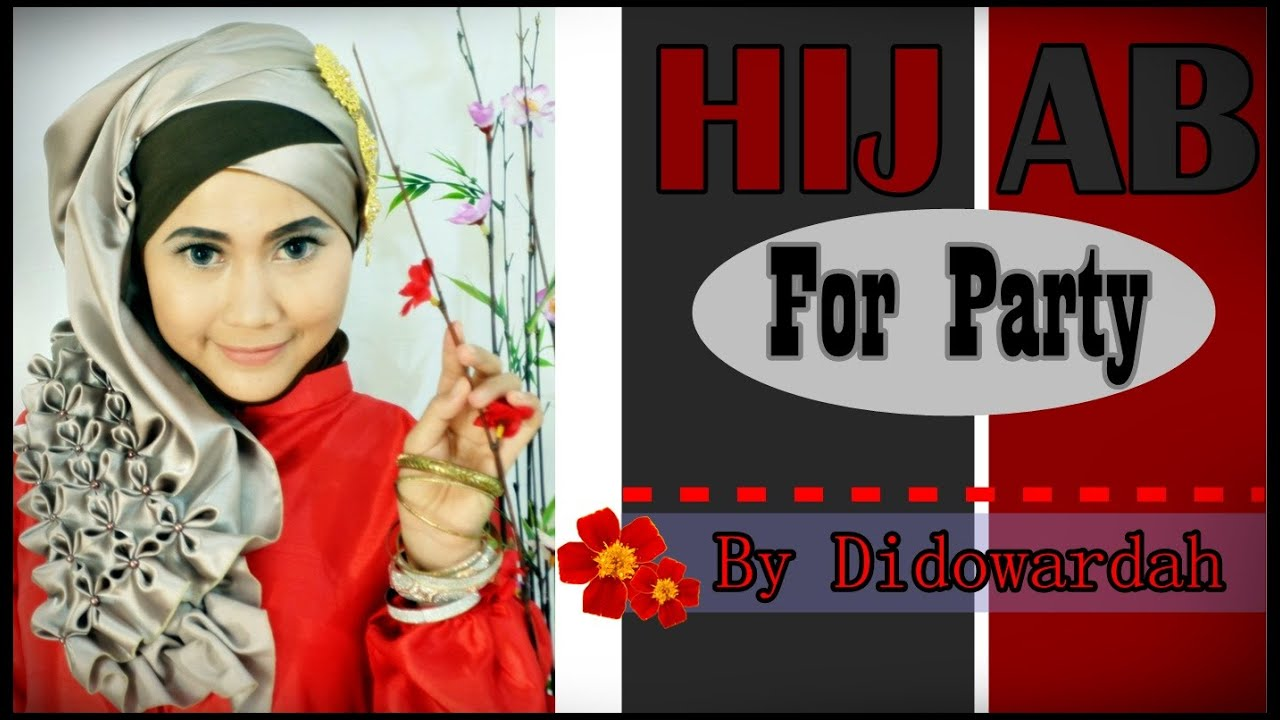 Tutorial Hijab Pesta Dan Wisuda Beaded J By Didowardah 2 YouTube