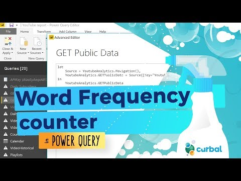 Word Frequency counter Power Query
