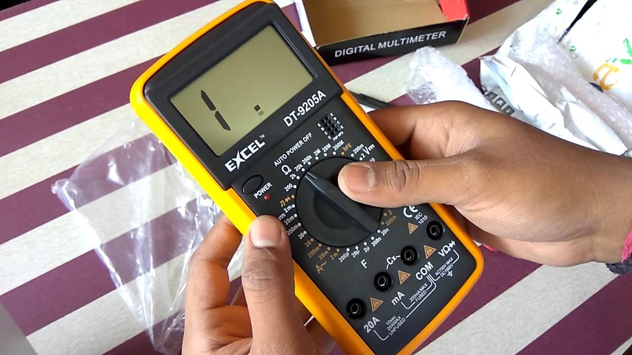 Unboxing Excel Dt 9205a Multimeter Ebayin Youtube Digital Electrical Circuit Tester 9v Battery Ebay