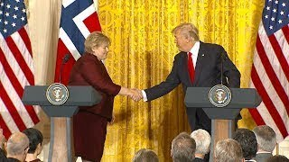 Pres. Donald Trump, Norwegian Prime Minister Erna Solberg hold joint news conference | ABC