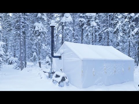 -30C WINTER CAMPING ALONE In A HOT TENT