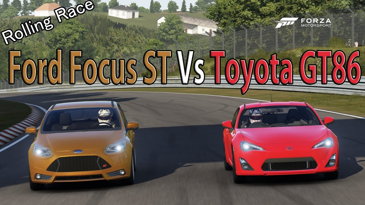 Forza Motorsport 6 Drag Race Toyota Gt86 Vs Ford Focus St