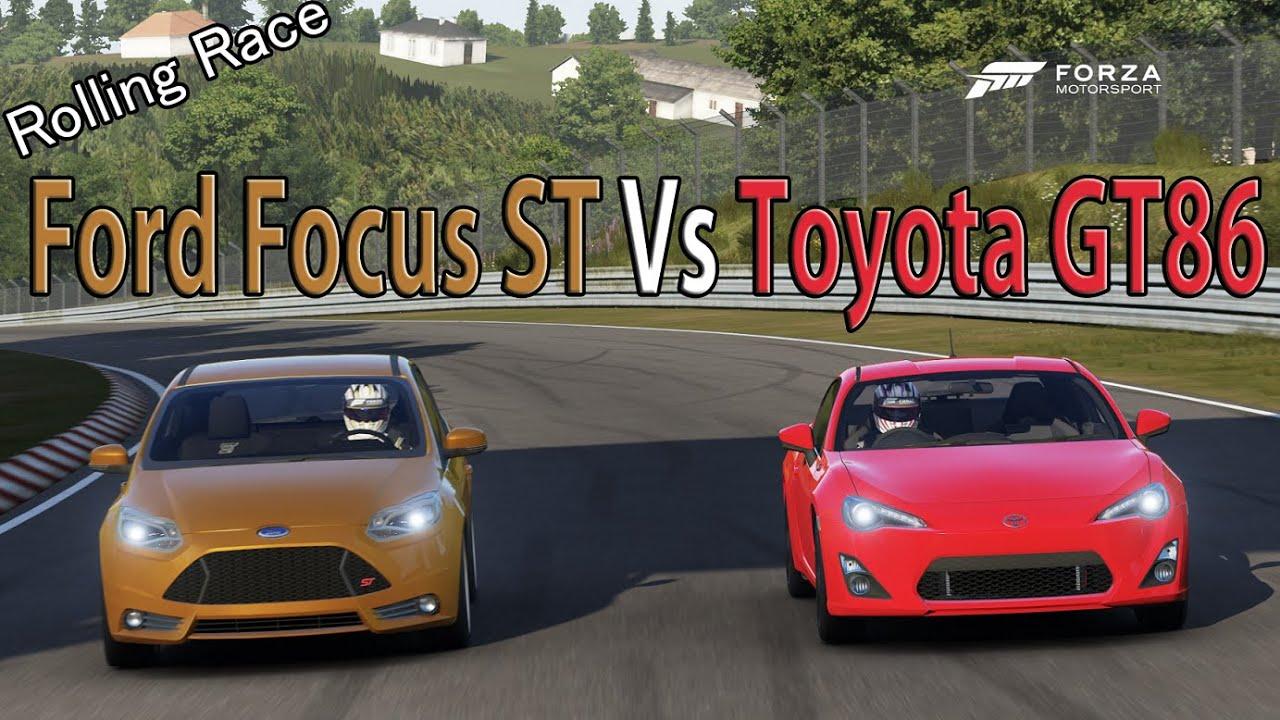 Forza Motorsport 6 Drag Race Toyota Gt86 Vs Ford Focus St