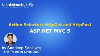 ASP.NET | MVC 5 | Action Selectors HttpGet and HttpPost