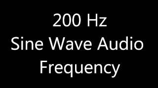 200 Hz Sine Wave Sound Frequency Tone