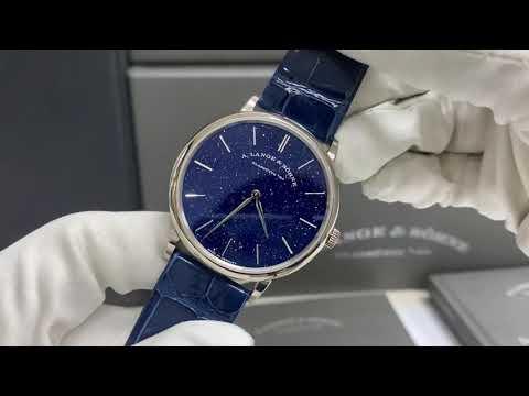 A. Lange \u0026 Söhne Saxonia Thin Copper Blue Dial 18K White Gold 205.086