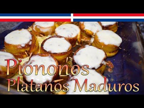 Piononos de plátanos maduros, carne de res y queso (Estilo Dominicano) - Cocinando con Yolanda