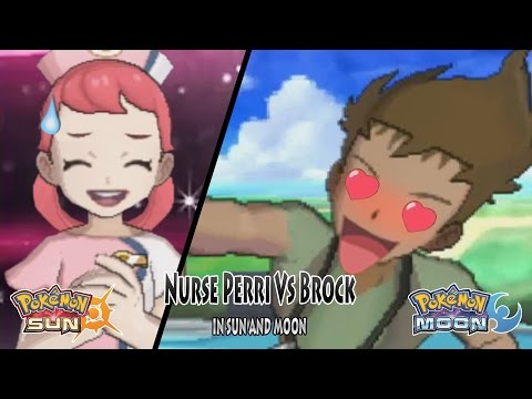 Pokemon Sun and Moon: Nurse Perri Vs Brock (Pokemon Battle Tree Perri)