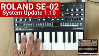 Roland SE-02 Update 1.10 Overview | New Sounds & Features