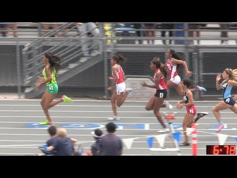2017 TF - CIF-ss Prelims (D1) - 100 Meters (Girls, 5 Heats) (19-D1)