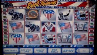 Evel Knievel, daredevil reels super hot online slot.