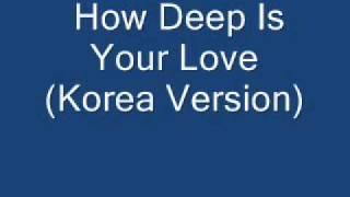 How Deep Is Your Love (Korea Version)