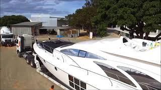 Lancha do Cantor Gusttavo Lima - Maior transporte realizado para Capitólio/MG HD - Gravado por Drone
