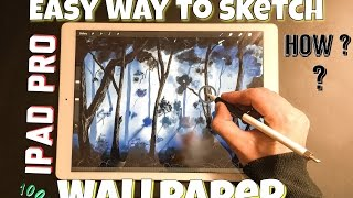 how to Draw Wallpaper on iPad Pro Using Apple Pencil /Easy Way