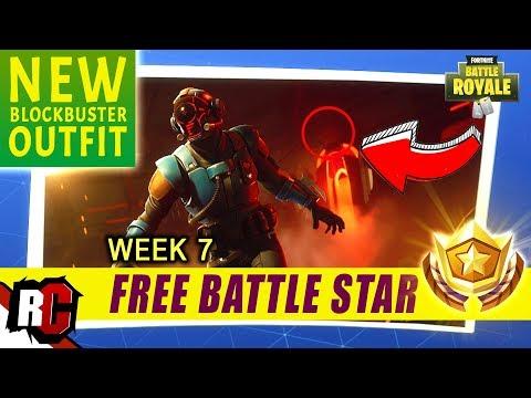 Secret Battle Star Location Week 7 Blockbuster Outfit Fortnite