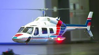 AMAZING RC SCALE MODEL HELICOPTER BELL 230 INDOOR DEMO FLIGHT!! *remote control heli