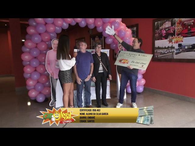 Albino Garcia, de Santos, levou 5 Mil Reais