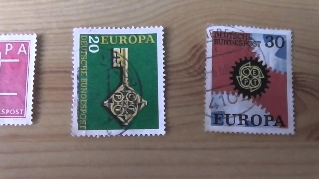 Europa Briefmarken Der Deutschen Bundespost Youtube