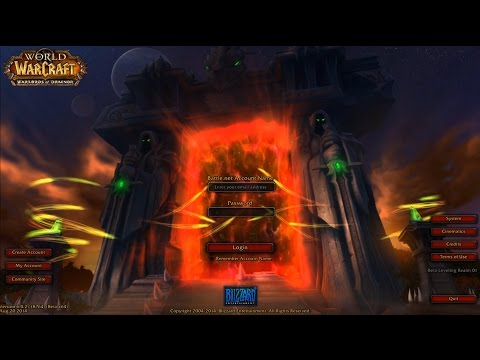 Warlords Of Draenor Login Screen & Music!