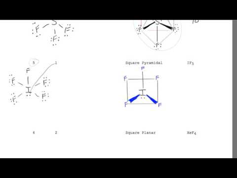 VSEPR Drawing for IF5 Square Pyramidal six Electron Groups