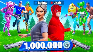 Bugha vs My Little Brother for 1,000,000 VBucks! - Battle Royale Challenge