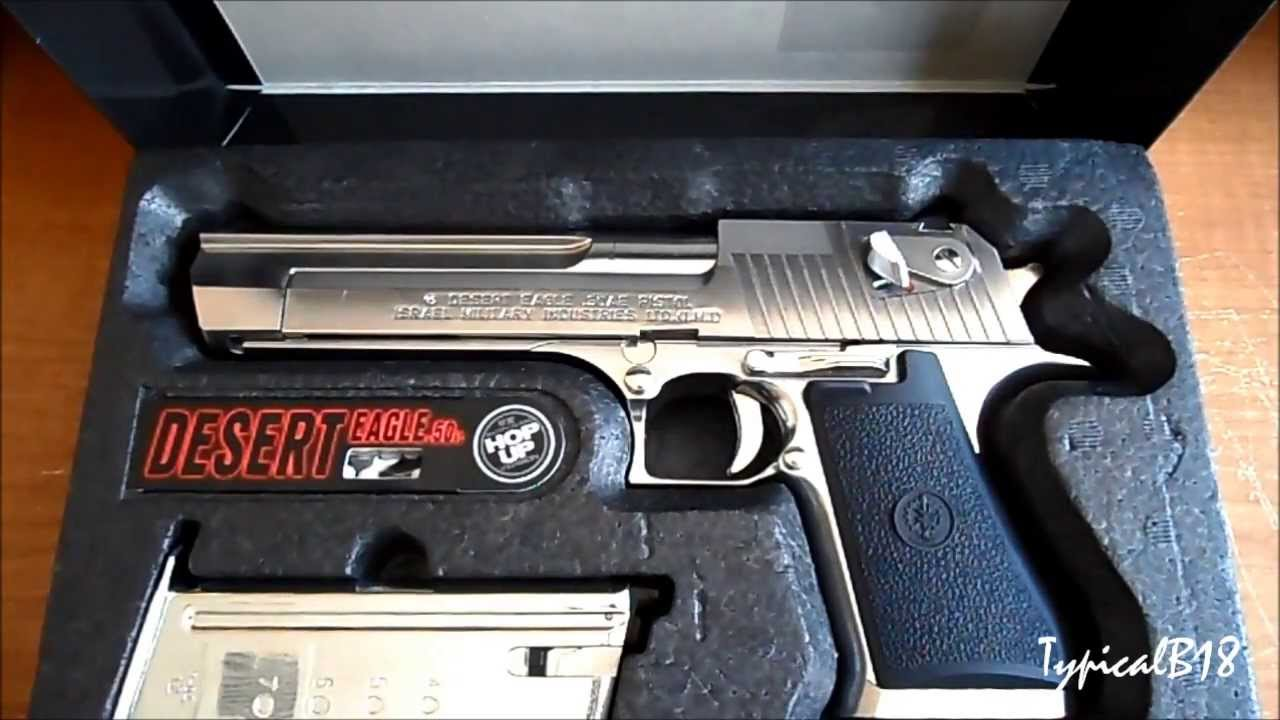 Tokyo Marui Desert Eagle 50ae Chrome Stainless Steel Hard Abs Plastic Kick Blow Back Airsoft Pistol Youtube