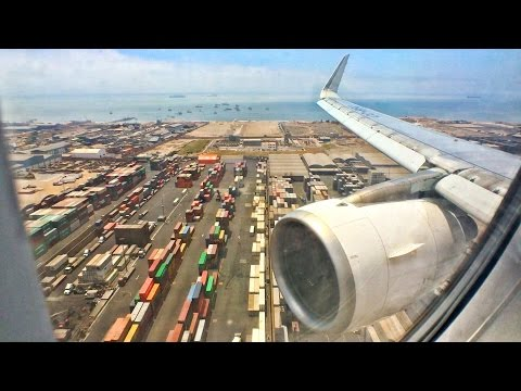 LATAM Airbus A319 Landing At Lima Jorge Chávez International Airport!
