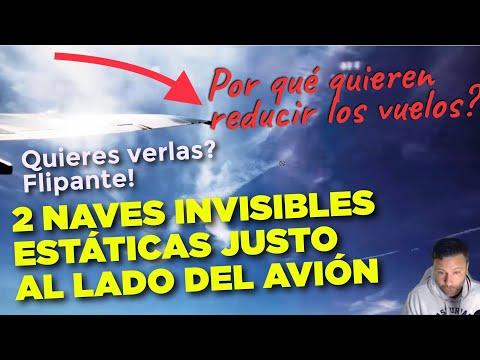 2 Naves Invisibles al lado del Avión en Pleno Vuelo: Por qué quieren menos viajes en avión? Flipa.