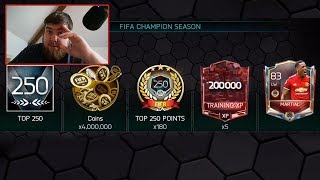 FIFA MOBILE 18 Claiming VSA S2 Top 250 Rewards #FIFAMOBILE FIFA Champion T250 Pack Opening