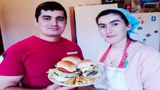 Гамбургер таёр мекунем бо Фаридун ва Нилуфар!