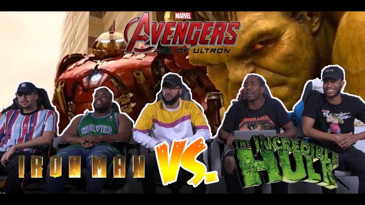 Download Avenger Age Of Ultron: Hulk Vs. Hulk Buster Fight Scene Reaction
