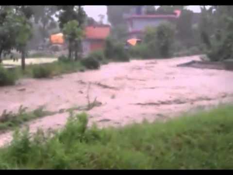 Pokhara ma Badi - Flood in Pokhara