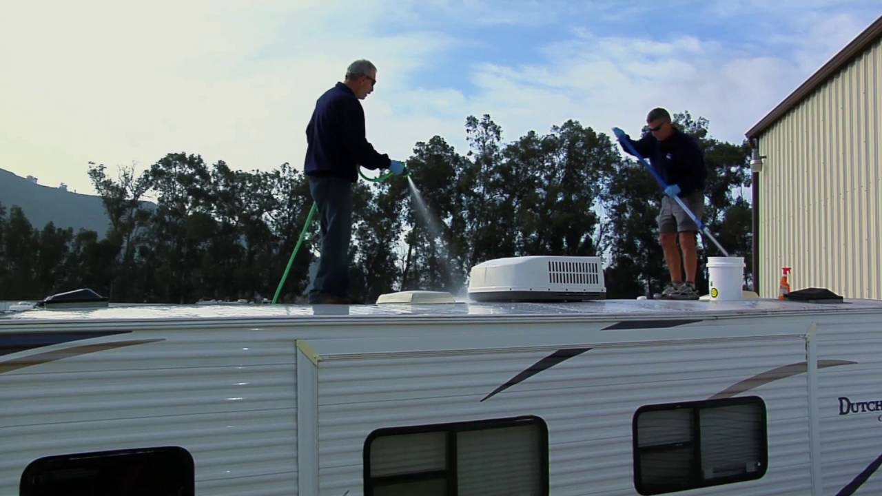 Rubber RV Roof Maintenance   YouTube