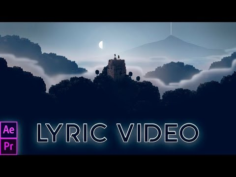 How to make a music video with Lyrics and 3D effect (Lyric Video)